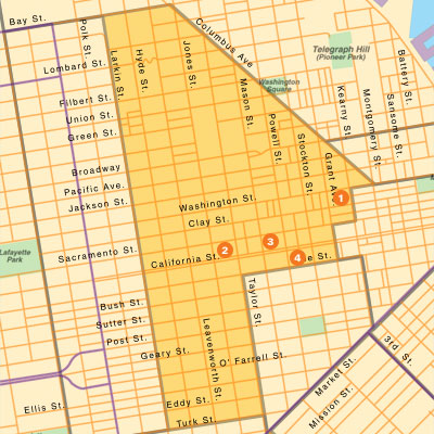 San Francisco Commericial Real Estate Market Boundaries Chinatown